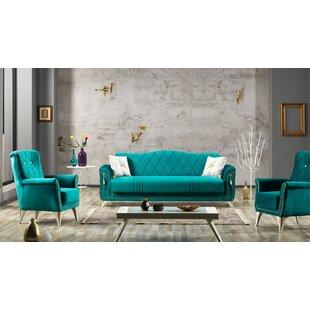Christner 4 Piece Sleeper Living Room Set by Everly Quinn