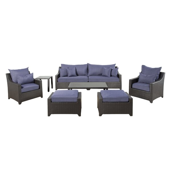 Delilah 7 Piece Rattan Sofa Seating Group with Cushions by Canora Grey