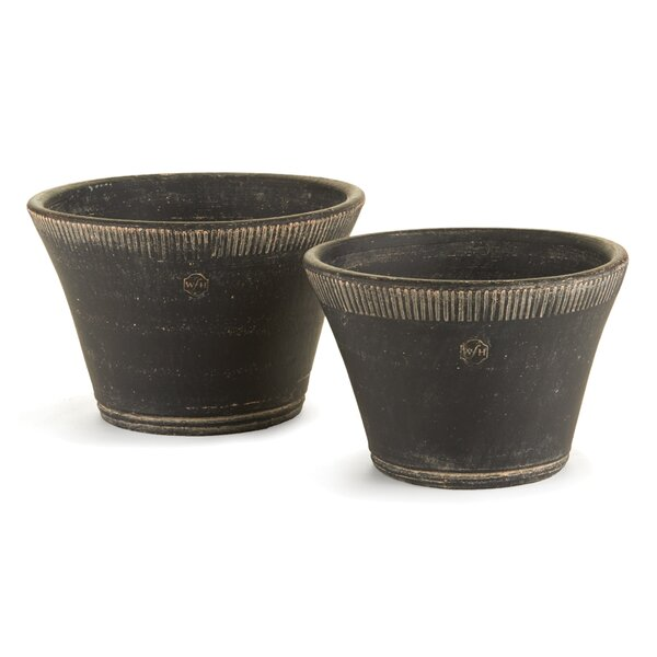Downham Pot Planter Set (Set of 2) by Charlton Home