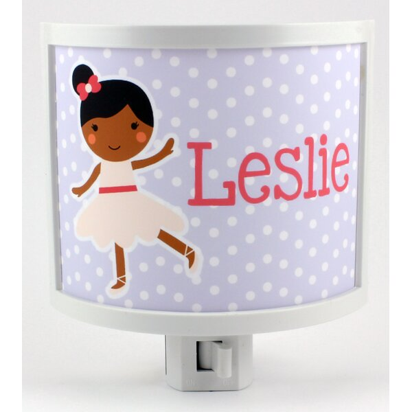 Lilac Ballerina Personalized Night Light by Common Rebels