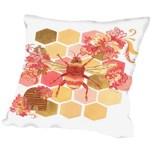Bumblebee Onefeinday Throw Pillow by East Urban Home