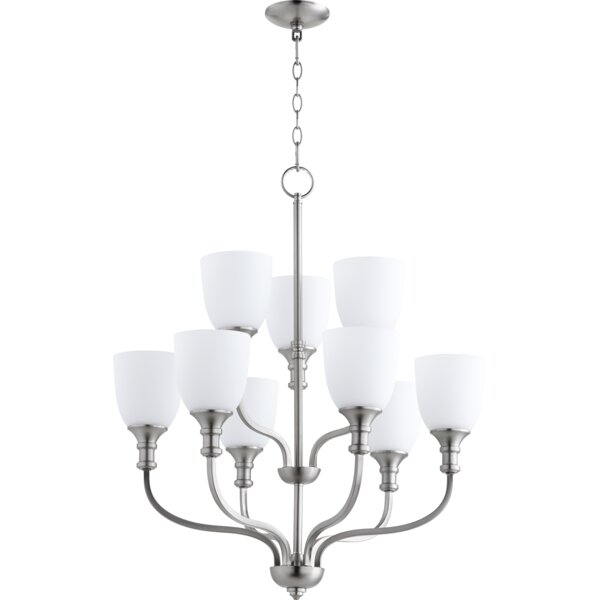 Falbo 9-Light Shaded Tiered Chandelier by Charlton Home Charlton Home