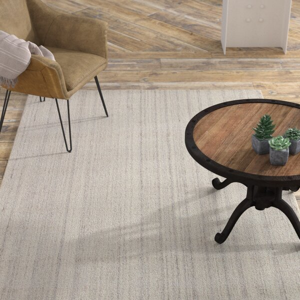 Minke Hand Loomed Gray Area Rug by Williston Forge