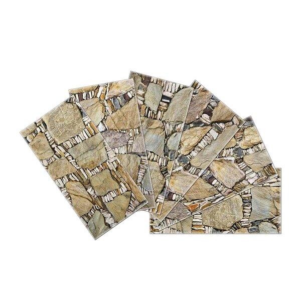 Crystal Skin 3 x 6 Glass Subway Tile in Beige by SkinnyTile
