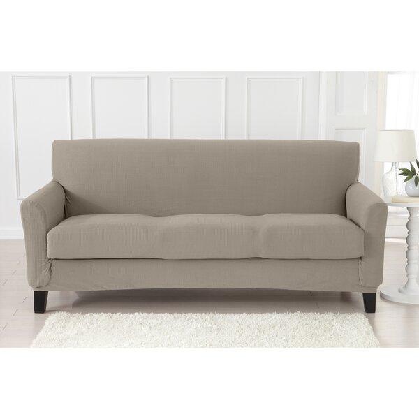 Strapless Popcorn Plush Box Cushion Sofa Slipcover By Latitude Run Latitude Run