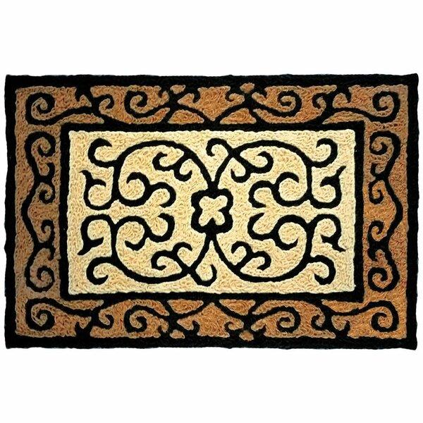 Castellon Hand-Tufted Brown/Black Indoor/Outdoor Area Rug by Fleur De Lis Living