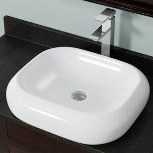 Buy luxury Pillow Top Vitreous China Rectangular Vessel Bathroom Sink ByMR Direct