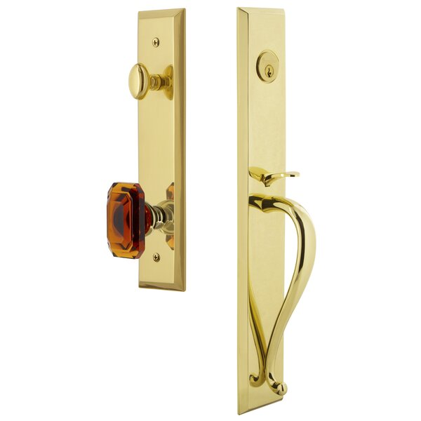 Fifth Avenue S Grip Dummy Handleset with Baguette Interior Knob by Grandeur