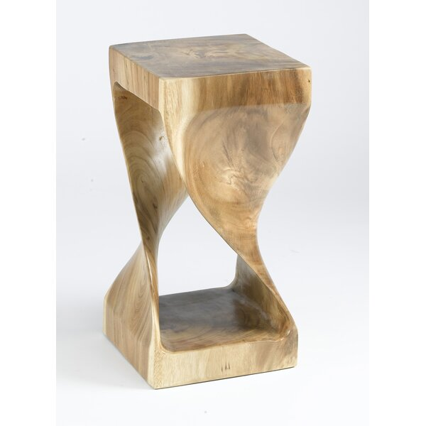 Saltz Twisted Teak End Table by Union Rustic Union Rustic