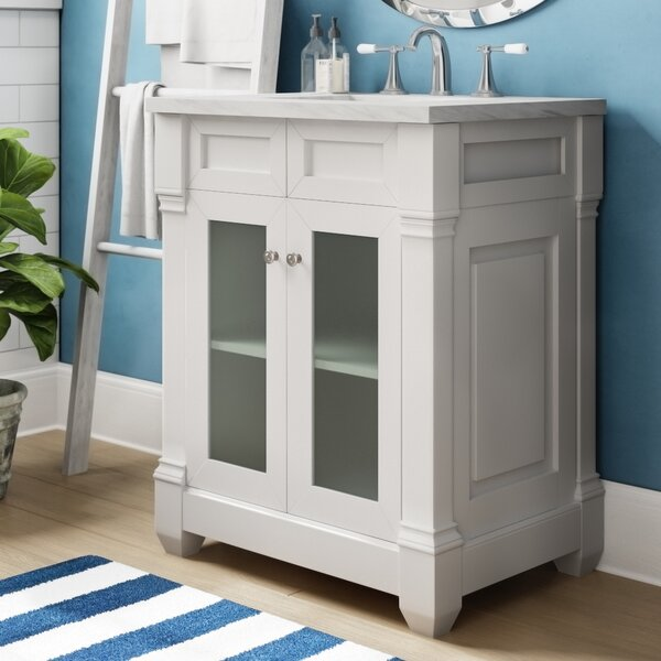 Laliberte Glass Door Top 30 Single Bathroom Vanity by Lark Manor