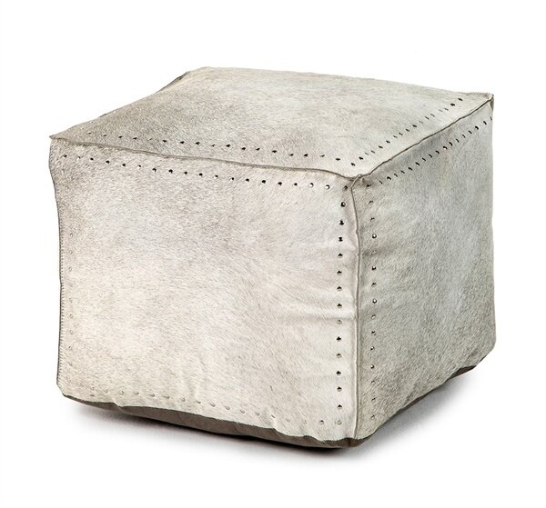 Bella Leather Cube Ottoman By Interlude