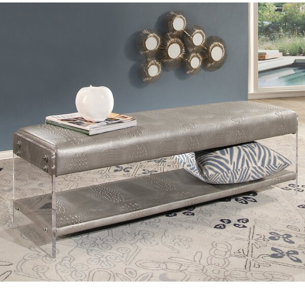 Zoraida Upholstered Bench by Everly Quinn