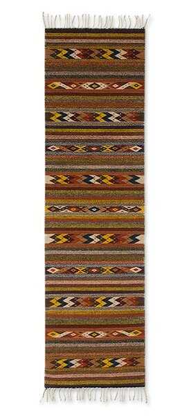 Hand-Woven Area Rug by Novica