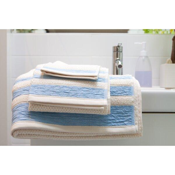 Linen/Cotton 550 grams 3 Piece Towel Set with 3 Stripes by Mili Designs