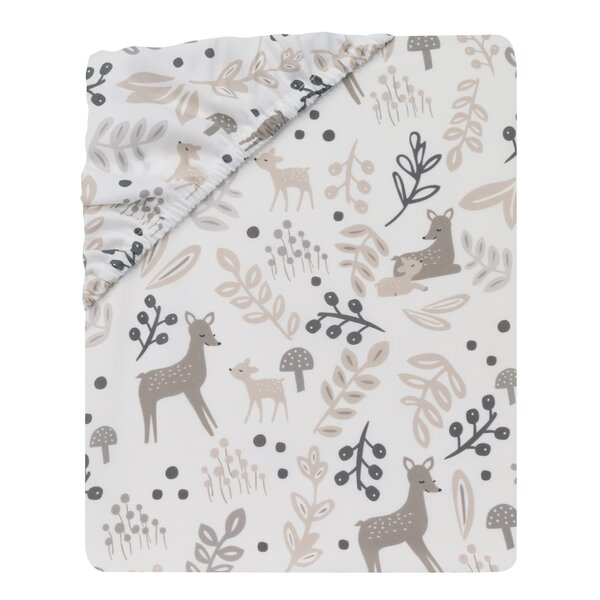 Meadow Fitted Crib Sheet by Lambs & Ivy