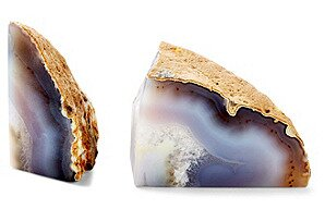 Pair Natural Agate Bookend (Set of 2) by Everly Quinn