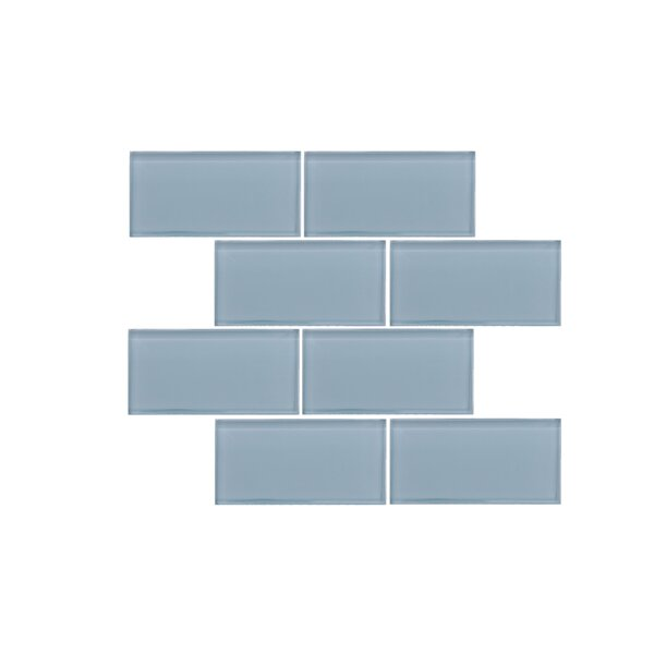 Valencia 3 X 6 Aqua Green Glass Subway Tile by Vetromani