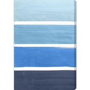 'The Right Shade of Blue' Graphic Art on Wrapped Canvas by Breakwater Bay