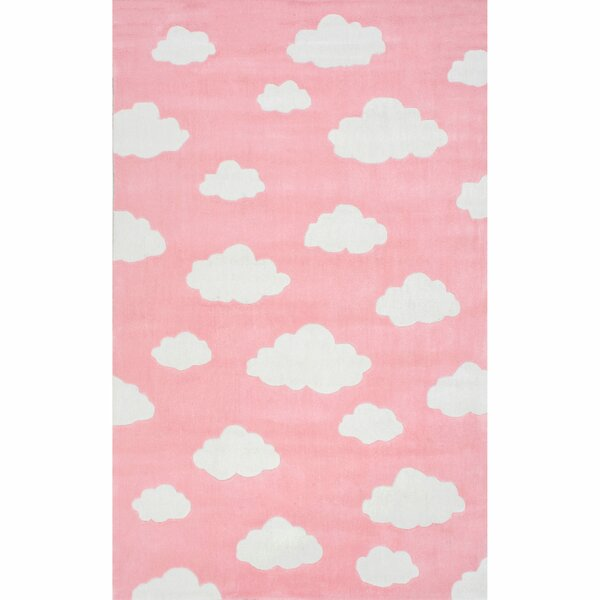 Lily Cloudy Sachiko Hand-Tufted Pink Area Rug by Viv + Rae