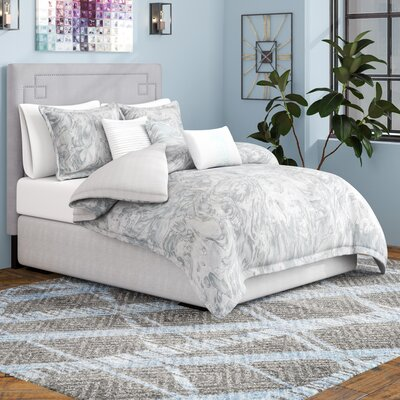Hulett 7 Piece Comforter Set Wrought Studio Size: King Comforter + 6 additional Pieces, Color: Gray