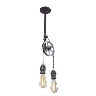 Steel Pulley  Light Bulb Pendant