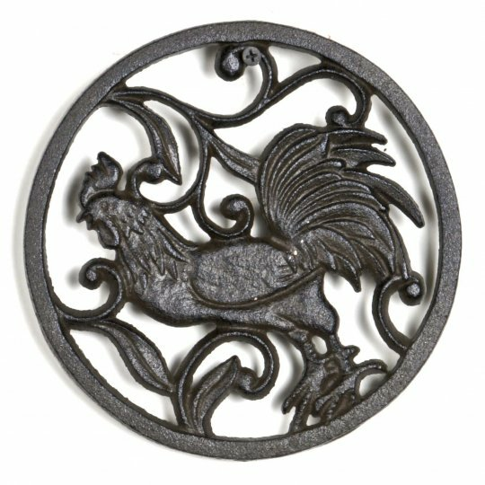 Cast Iron Rooster Trivet by August Grove
