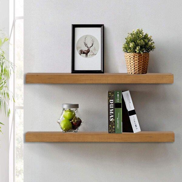 Estancia Wood Floating Shelf (Set of 2)