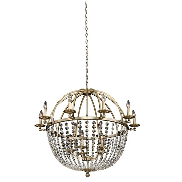 Marlborough 15 - Light Candle Style Geometric Chandelier By Rosdorf Park