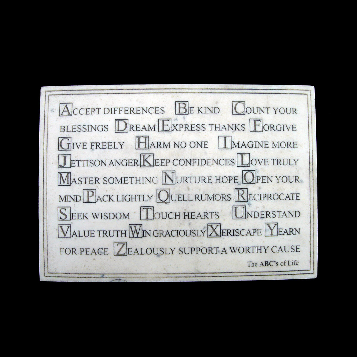 Winston Porter Abcs Of Life Faux Marble Standup Or Wall Plaque Wall Decor Wayfair
