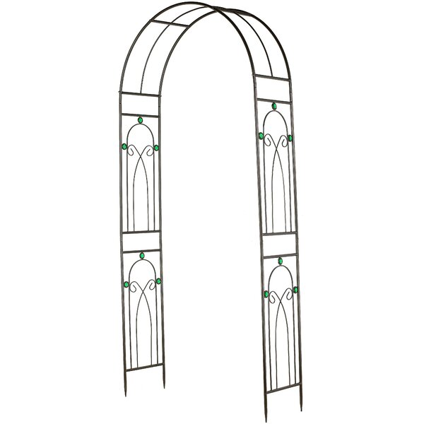 Emerald Series Metal Arbor by Arcadia Garden Products