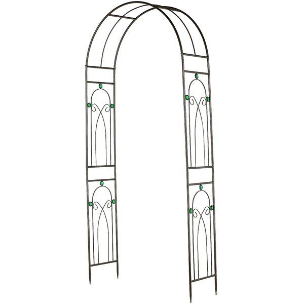 Emerald Series Metal Arbor by Arcadia Garden Products