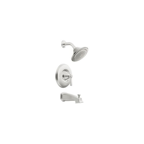 Rothbury Pressure Balance Tub and Shower Faucet Trim with Lever Handle and Moentrol by Moen