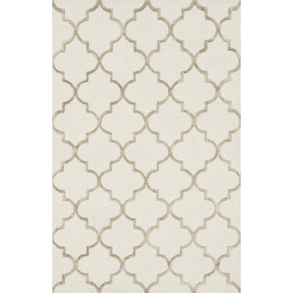 Kirkbride Hand-Tufted Ivory/Beige Area Rug by Charlton Home