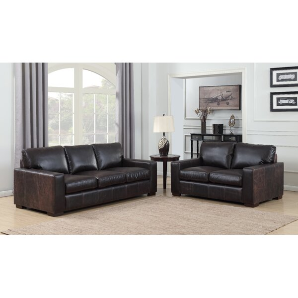 Priscila 2 Piece Leather Living Room Set  by 17 Stories