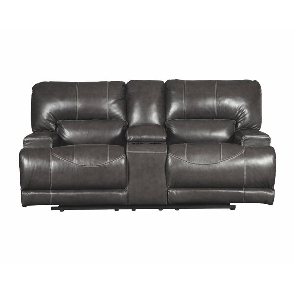 Casey Reclining Loveseat with Console by Red Barrel Studio