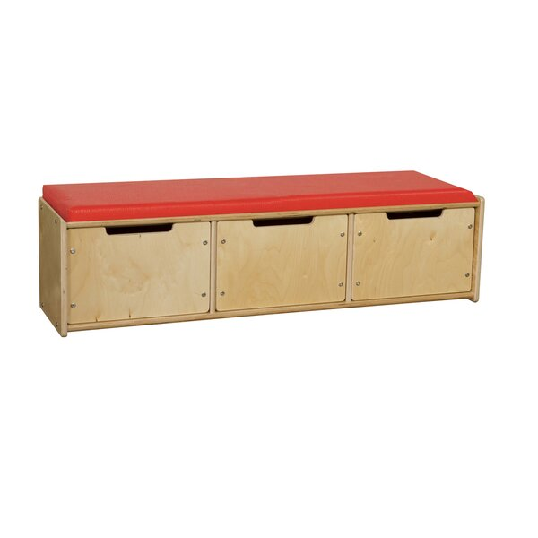 Upholstered Storage Bench by Wood Designs