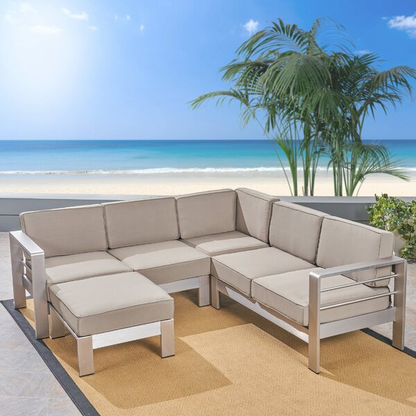 Royalston Patio Sectional with Cushions by Brayden Studio Brayden Studio