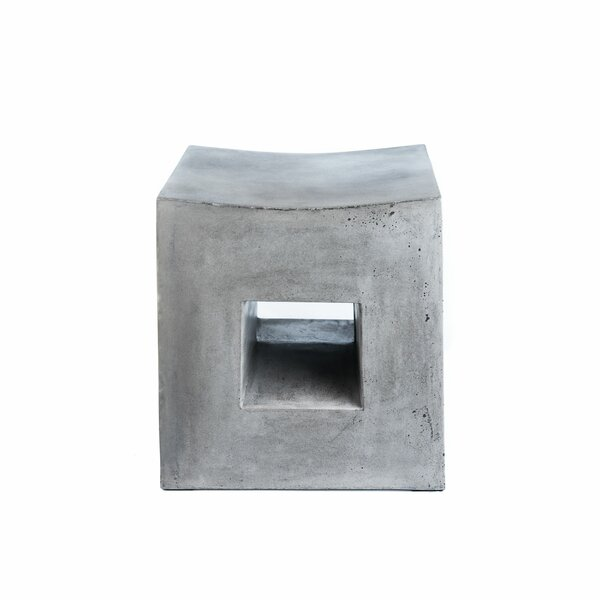 Langdon Stone/Concrete Side Table by Bloomsbury Market
