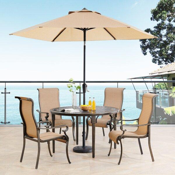 Sweeten 5 Piece Dining Set with Umbrella by Brayden Studio