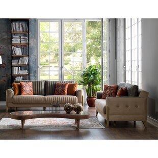 Wolken 2 Piece Sleeper Living Room Set by Everly Quinn