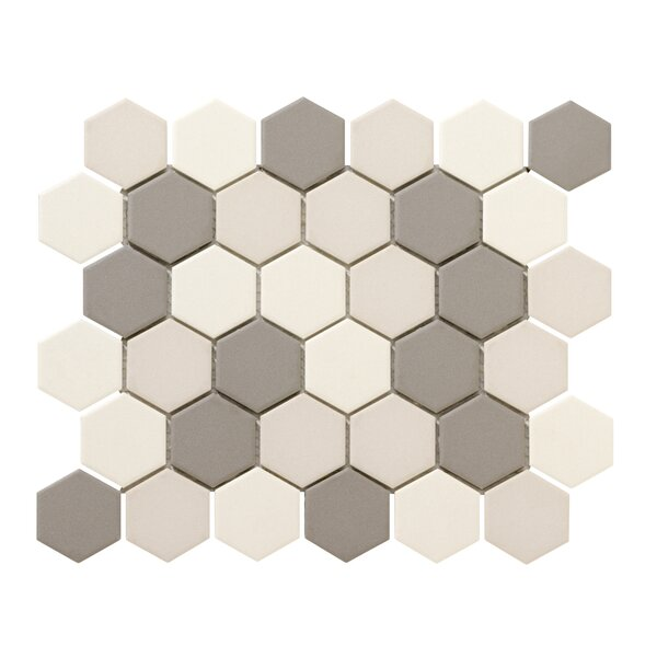Zone Blend Hex 2 x 2 Porcelain Mosaic Tile in Matte Light by Emser Tile