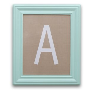 Letter Framed Art