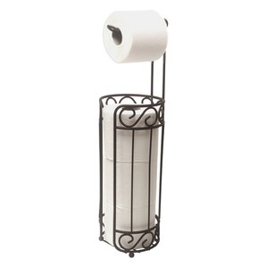 free standing toilet paper holder and dispenser