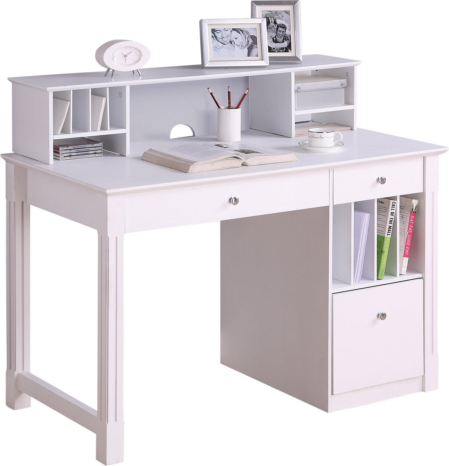 - Beachcrest Home Clinton Computer Desk With Hutch & Reviews Wayfair