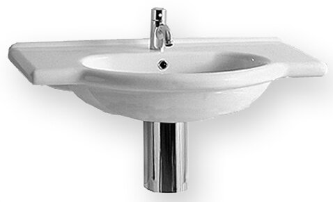 China Ceramic 31 Wall Mount Bathroom Sink with Overflow