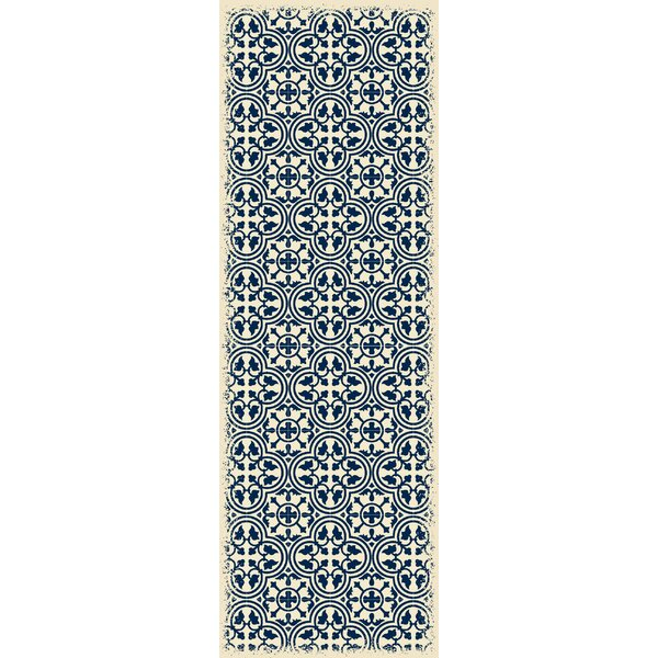 Hottinger Blue/White Indoor/Outdoor Area Rug