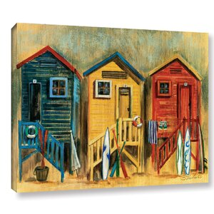 'Summer Cabanas' Painting Print on Wrapped Canvas by Highland Dunes