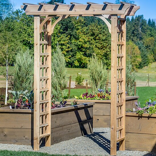 Vine Leaf Wood Arbor by Arboria