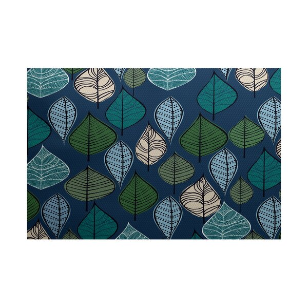 Avalos Blue Indoor/Outdoor Area Rug by Ivy Bronx
