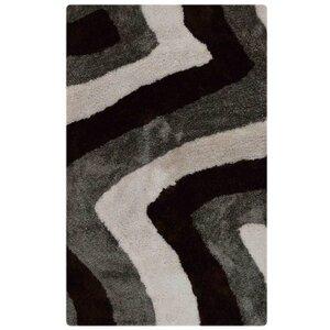 Kymmi Contemporary Hand-Woven Black/Gray Area Rug